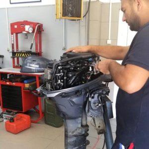 Yamaha service motor barcă
